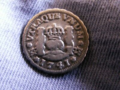 Mexican colonial 1/2 real 1741 Mo