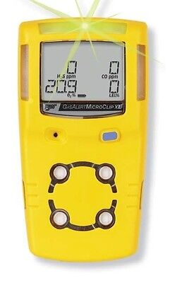 BW MicroClip XL Gas Detector - H2S O2 CH4(LEL) CO c/w charger
