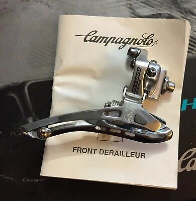 Campagnolo Record titanium 10 speed braze on front derailleur NOS