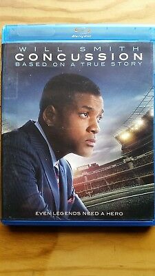 Concussion (Blu-ray Disc, 2016) Previous Rental Excellent Condition