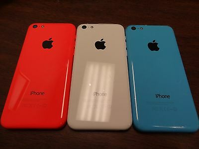 New OEM iPhone 5C Back Case Full Housing Assembly with Cables and Small Parts