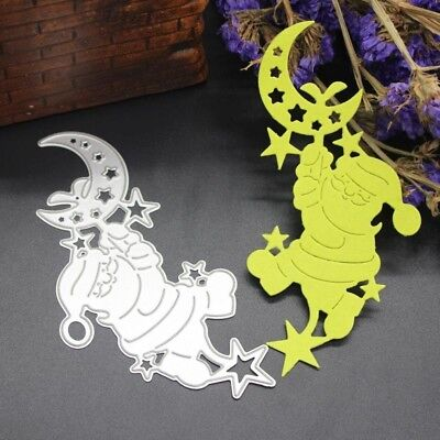 (16 Shapes:Men&Moon) - SMYTShop 1Pcs Metal Cutting Dies Stencil Template for