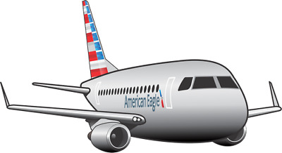 Embraer 175 American Eagle aircraft sticker