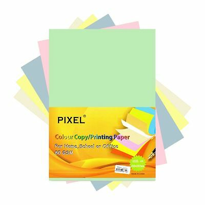 Pixel® A4 Paper for Home, School, Office (Pastel - 80GSM - 100 Sheets)