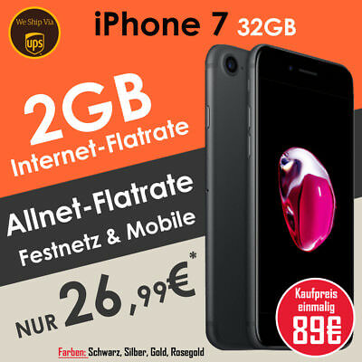 Apple iPhone 7 mit Vodafone Allnet Flat Handyvertrag NUR 29,99€ mtl.* | ✩ DEAL ✩