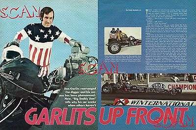 1971 Big Daddy Don Garlits Vintage Magazine Article Dodge Ad Swamp Rat I Hemi 1