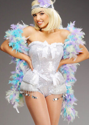 1920s Flapper Girl Mixed Pastel Feather Boa