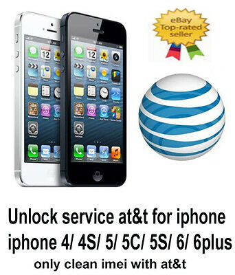 AT&T USA UNLOCKING SERVICE Apple  iPhone 6S 6 5S, 5, 5с, 4S, 4 clean imei