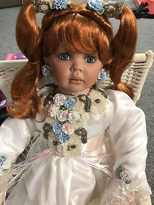 """Angelique sitting doll by Donna RuBert and Rustie 34""""Tall"""