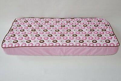 Mod Dots/Strps Pink Quilted Top Crib Fitted Sheet. Bacati. Brand New