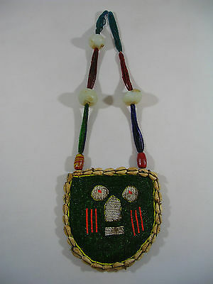 Antique Odigba Ifa Yoruba Nigerian Diviners Hand Beaded Necklace African Tribe