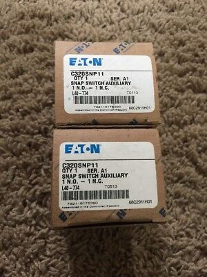 2 New Eaton Cutler Hammer C320SNP11 Series A1 Snap Switch Auxiliary Contact