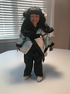 Porcelain Chinese Doll With Stand