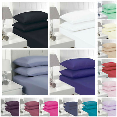 5* 400 Thread Count 100% Egyptian Cotton Flat Sheet All Colors All Uk Sizes