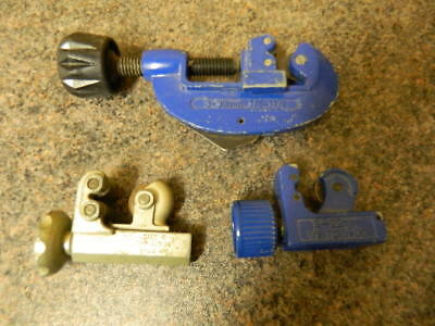 Lot of 3 Adjustable Pipe Cutters Plumbing Hand Tools Including Monument Brand