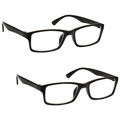 Reading Glasses 2 Packs Mens Womens UV Reader RR92