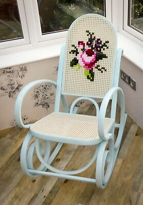 Bentwood rocking chair Upcycled with embroidery