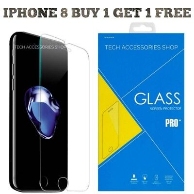 Glass Screen Protector For Apple iPhone 8 - 100% Genuine Tempered