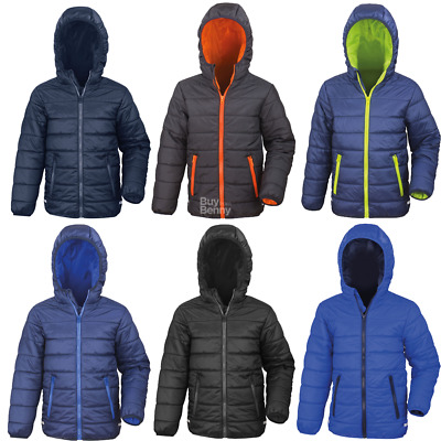 Result Children's Padded Jacket Hood Warm Lined Puffer Sport Syle Coat Sizes