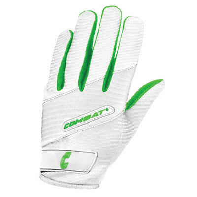 Combat Derby Girls G3 Fastpitch Softball Batting Gloves - White/Lime - Large