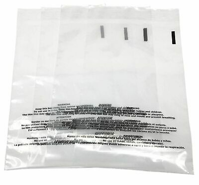 Resealable Suffocation Warning Bags Self Seal 1.5MIL 6x8 8x10 9x12 10x15 12x17