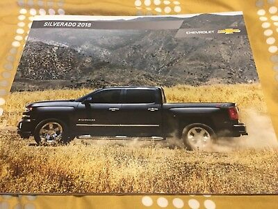 2018 CHEVY SILVERADO 54-page Original Sales Brochure