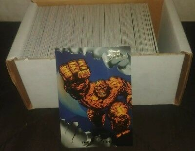 1994 Flair Marvel Annual Complete 150 Card Set w/Spiderman,Wolverine,Thor+