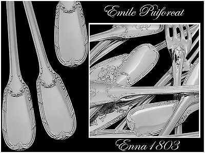 PUIFORCAT French Sterling Silver Dessert Flatware Set 12 pc Neo Classical