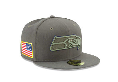 5e0583472485b2 NFL Seattle Seahawks Adult New Era 59FIFTY '17 Salute to Service Fitted Hat