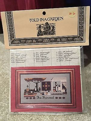 Told in a Garden - Amish - The Harvest - cross stitch pattern