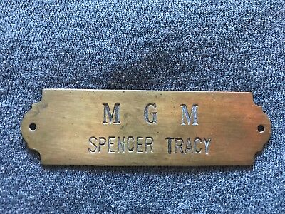 Authentic Spencer Tracy Actor Used Mgm Door/chair Tag 1930's