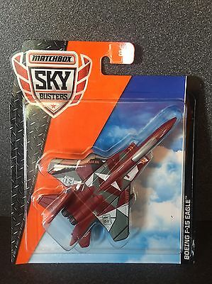 Matchbox Skybusters Boeing F-15 Eagle Fighter Jet Plane HTF 2017 Release!