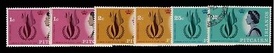 Pitcairn Islands 1968 Human Rights Flame SC# 88-90,Cpl.MH+Used sets