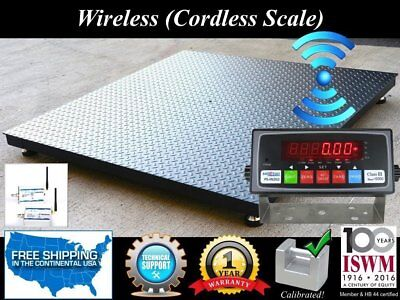 Wireless 48'' x 48'' Pallet Size Floor Scale l 5,000 lbs x 1 lb