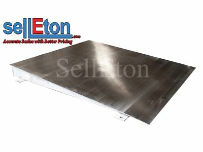 "OP-750SS-4x4 Stainless steel Ramp for floor scale 48"" x 40"" x 4"" 5000 cap."