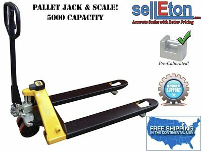 STG-PJ Pallet Jack Scale with Capacity of 5,000 lbs / Warehouse/ Industrial Hand