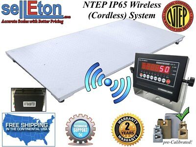 "NEW NTEP Floor scale 60"" x 84"" (5' x 7') Wireless / cordless 10,000 lbs x 2 lb"