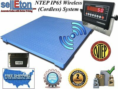 "NEW NTEP Floor scale 60"" x 60"" (5' x 5') Wireless / cordless 10,000 lbs x 2 lb"