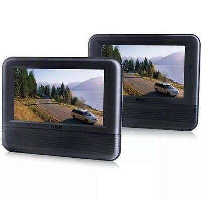 """Car DVD Player Dual 7"""" Screen LCD Monitor for Vehicle Back Seat Entertainment"""