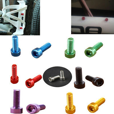 4 Pcs Aluminum Alloy Bike Water Bottle Cage Bolts Holder Socket Colorful Screws