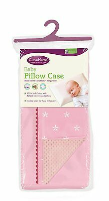 Clevamama Replacement Baby Pillow Case Pink Airtech Reversible Side New