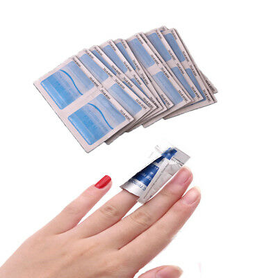 100Pcs Gel Polish Remover UV Soak Off AcetoneRemoval Wraps Nail Art Cleaner BO