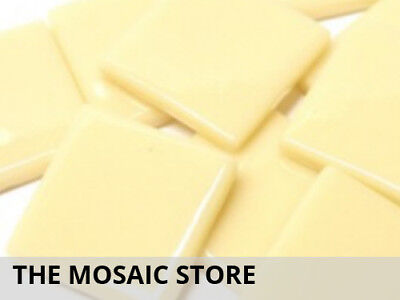 Cream Opal Gloss Glass Tiles 2.5cm | Mosaic Tiles Supplies Art Craft