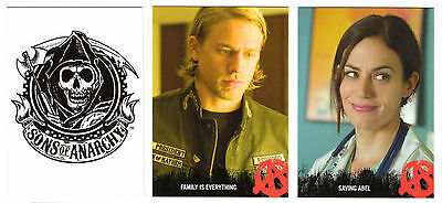 2014 Sons of Anarchy Seasons 1-3 100 Trading Card Base Set, Empty Box & Wrappers