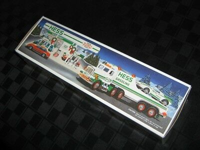 1991 Hess FlatbedTruck And Racer With Operating Lights - All Offers Considered