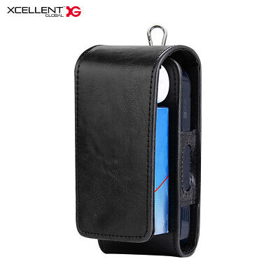 Storage Bag for IQOS 2,2.4 plus or 3, PU Leather Carrying Case Holder Black
