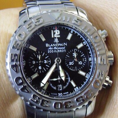 Blancpain Air Command Flyback Chronograph 2285f 1130 71 In A Plus Condition 5 250 00 Picclick