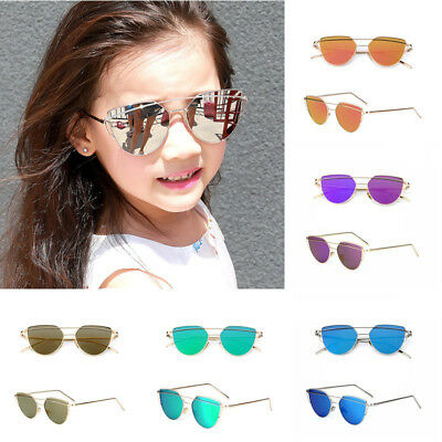 Kids Fashion Cat Eye Sunglasses Retro Girls Boys Anti-UV Outdoor Sports Eyewear