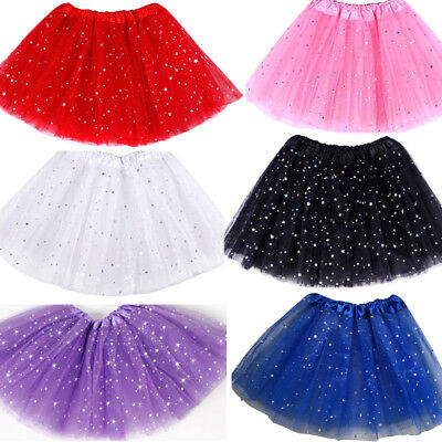 Beautiful Dance Fluffy Tutu Skirt Ballet Dress Fancy Costume For Girls Kids Baby