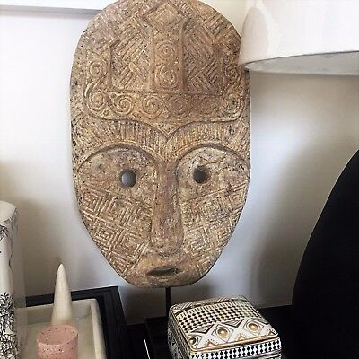 Wooden Tribal Mask on Stand